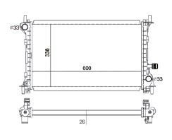 Radiador Focus 1.8 / 2.0 ( 01 - 08 ) Unificado com / sem Ar / Automatico / Manual / Aluminio Brasado - CFB2297126