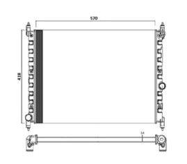Radiador Kombi 1.4 Flex ( 05 > ) sem Ar / Manual / Aluminio Mecanico - CFB29205534