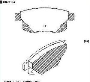 Pastilha de Freio Ford Transit Furgao 3330 2.4 2006 > - CSP173