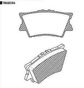 Pastilha de Freio Toyota Rav 4 Vvti 16V Dohc 2.0 / 2.4L 2006 / .. / S ( Ist.Akebono Traseira ) - CSP1326