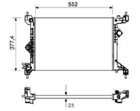 Radiador Cobalt 1.4 ( 11 > ) / Onix ( 12 > ) / Prisma ( 13 > ) 1.0 / 1.4 / Sonic 1.6 16V / Spin 1.8 ( 11 > ) com / sem Ar / Manual / Aluminio Mecanico - CFB20011523