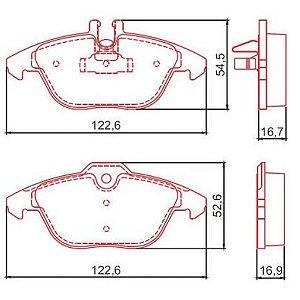 Pastilha de Freio Dianteira A4 2.7 V6 24V TDI / 3.2I V6 24V com Alarme com Anti Ruido ( Ferodo ) - CHQF4118AC