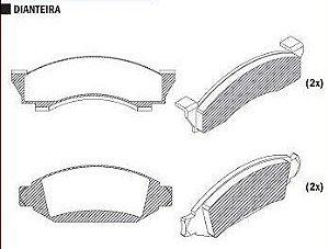 Pastilha de Freio F1000 / F1000 Turbo 79 / 93 / F150 75 / 93 Agrale 1600D 4X4 85 / 89 - CSP109