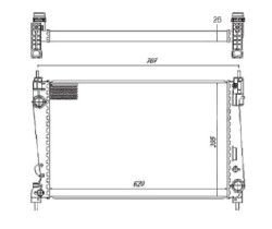 Radiador Punto 1.6 / 1.8 8V / 16V ( 08 > ) com / sem Ar / Manual / Aluminio Brasado - CFB22851126