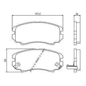 Pastilha de Freio Sportage 2.0 CRDI / 2.0i 16V 4WD / 2.7i V6 4WD / Tucson CRDI 2.0 / 2.0 I 05 / ... com Alarme ( Stop ) - CHQS2216A
