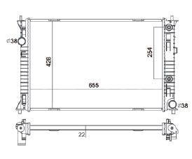Radiador Fusion 2.3 L4 / 3.0 V6 ( 06 - 09 ) com / sem Ar / Automatico / Manual / Aluminio Brasado - CFB2856122