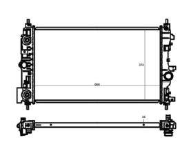 Radiador Cruze 1.8 16V ( 11 > ) com Ar / Automatico / Aluminio Brasado - CFB20018126