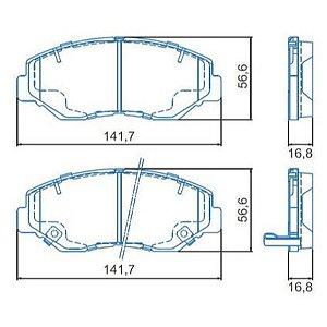 Pastilha de Freio Dianteira Honda Accord Ex, Se 11 / 12 Honda CRV 2.0I 02 / ... com Alarme ( Jurid ) - CHQJ2363A