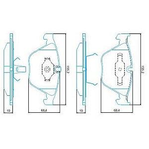 Pastilha de Freio Importada BMW Serie 3 ( 330I ) 05 / ... Serie 5 sem Alarme ( Jurid ) - CHQJ4004