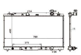 Radiador Camry 3.5 V6 ( 07 - 11 ) com Ar / Automatico / Manual / Aluminio Brasado - CFB2817016