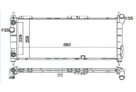 Radiador Corsa 1.0 / 1.4 / 1.6 16V MPFI ( 94 - 02 ) com Ar / Automatico / Aluminio Brasado - CFB4438126
