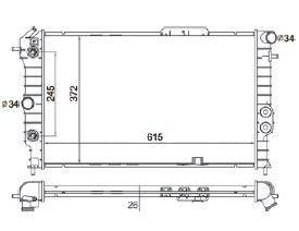 Radiador Vectra 1.8 / 2.0 / Calibra 2.0 8V / 16V ( 90 > ) com Ar / Automatico / Aluminio Brasado - CFB5649126