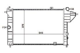 Radiador Vectra 2.0 ( 93 - 96 ) sem Ar / Manual / Aluminio Brasado - CFB4350132