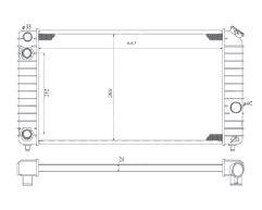 Radiador S10 / Blazer 4.3 V6 ( Todos ) com Ar / Manual / Aluminio Brasado - CFB1825126