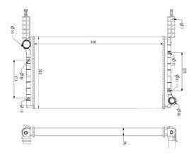 Radiador Doblo 1.3 ( 01 > ) sem Ar / Manual / Aluminio Mecanico - CFB22539523