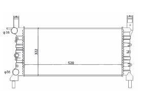 Radiador Uno / Fiorino / Prêmio 1.0 ( 99 - 00 ) sem Vaso com Ar / Manual / Aluminio Mecanico - CFB7016523