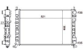 Radiador Palio / Siena / Strada 1.0 / 1.3 8V / 16V Fire ( > 00 ) com / sem Ar / Manual / Aluminio Mecanico - CFB3593523