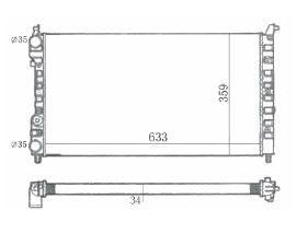 Radiador Tempra 2.0 8V / 16V ( 92 - 99 ) com Ar / Manual / Aluminio Mecanico - CFB7017534