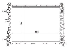 Radiador Tipo 1.6 ( 93 - 97 ) sem Ar / Manual / Aluminio Mecanico - CFB3614534