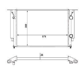 Radiador Stilo 1.8 / 1.8 16V ( 03 > ) 3 Saidas com Ar / Manual / Aluminio Brasado - CFB22546126