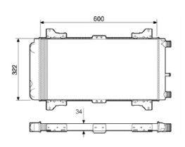 Radiador Escort 1.6 CHT ( 84 - 86 ) sem Ar / Manual / Aluminio Mecanico - CFB22281534