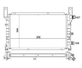 Radiador Fiesta / Courier 1.0 / 1.3 ( 95 ) sem Ar / Manual / Aluminio Mecanico - CFB3760534