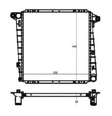 Radiador Ranger 3.0 Direcao Eletronica ( 06 > ) com / sem Ar / Manual / Aluminio Brasado - CFB20050126
