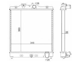 Radiador Civic 1.6 ( 92 - 00 ) com Ar / Manual / Aluminio Brasado - CFB4453126