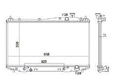 Radiador Civic 1.7 16V ( 01 - 05 ) com Ar / Automatico / Manual / Aluminio Brasado - CFB2354116