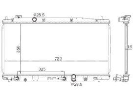 Radiador Fit / City 1.4 / 1.5 16V ( 09 > ) com Ar / Automatico / Manual / Aluminio Brasado - CFB3068016