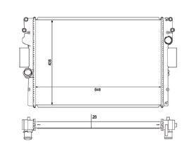 Radiador Daily TD Moderna ( 07 - 11 ) com / sem Ar / Manual / Aluminio Brasado - CFB20575136