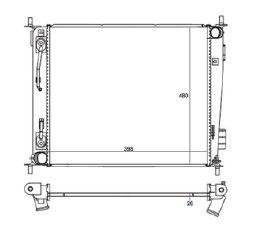 Radiador Soul 1.6 16V ( 09 > ) com Ar / Automatico / Mecanico Tec. Ab - CFB20017126