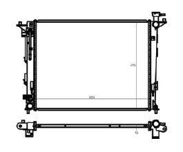 Radiador Sportage 2.0 16V ( 10 > ) com Ar / Automatico / Aluminio Brasado - CFB20033116