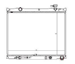 Radiador Sorento 2.5 TD ( 07 > ) com Ar / Automatico / Manual / Aluminio Brasado - CFB20036126