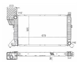 CFB4079136 - RADIADOR SPRINTER 310 / 312 - TODOS  (TODOS)