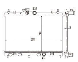 Radiador Livina 1.6 / 1.8 16V ( 09 > ) / Tiida 1.8 ( 07 > ) com / sem Ar / Manual / Aluminio Brasado - CFB20052116