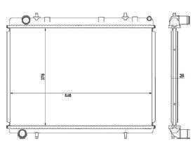 Radiador 307 / 308 2.0 16V ( 06 > ) com Ar / Automatico / Manual / Aluminio Brasado - CFB20480126