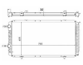Radiador Boxer 2.5 / 2.8 D / TD ( 94 - 11 ) Brasado com / sem Ar / Manual / Aluminio Brasado - CFB7011132