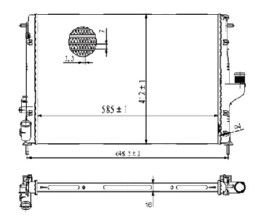 Radiador Duster 1.6 / 2.0 16V ( 11 > ) com Ar / Manual / Aluminio Brasado - CFB20015116