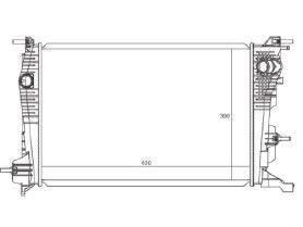 Radiador Fluence 1.6 / 2.0 16V ( 11 > ) com Ar / Automatico / Manual / Aluminio Brasado - CFB20065126