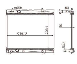 Radiador Etios 1.3 / 1.5 16V ( 12 > ) com / sem Ar / Automatico / Manual / Aluminio Brasado - CFB20089116