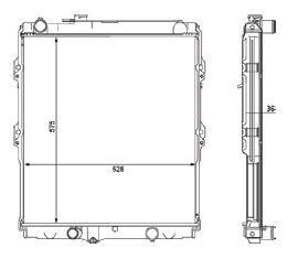 Radiador Hillux Srv 3.0 8V / 16V 4X4 Dx Diesel Aspirada ( 02 - 05 ) / Aluminio Brasado - CFB20503136
