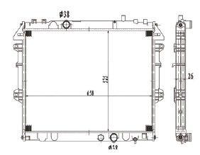 Radiador Hillux 2.5 / 3.0 Diesel ( 06 > ) com / sem Ar / Manual / Aluminio Brasado - CFB20006126