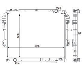 Radiador Hillux 2.7 Gasolina ( 09 > ) com / sem Ar / Manual / Aluminio Brasado - CFB20007126