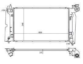 CFB2432116 - RADIADOR COROLLA - 1.6/1.8 16V  (02-08)