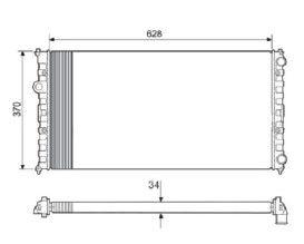 Radiador Polo 1.8 Classic ( 97 - 98 ) com Ar / Manual / Aluminio Mecanico - CFB5732534