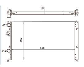 Radiador Polo 1.8 Classic ( 99 - 02 ) com Ar / Manual / Aluminio Mecanico - CFB5738534