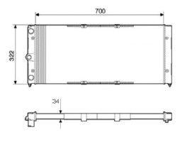 Radiador Santana / Quantum 1.8 / 2.0 ( 96 > ) com Ar / Manual / Aluminio Mecanico - CFB22507534