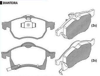 Pastilha de Freio Meriva 1.8 Aro 15 2010 / Zafira 2.0 8V / 16V 2010 / Vectra Cd2.0 / 2.2 Aro 15 2010 / Astra 2.0 16V 2010 / - CSP352