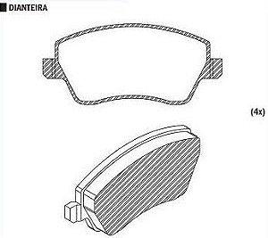 Pastilha de Freio Renault Duster 1.6 16V 2011 / Sistema Trw - CSP462